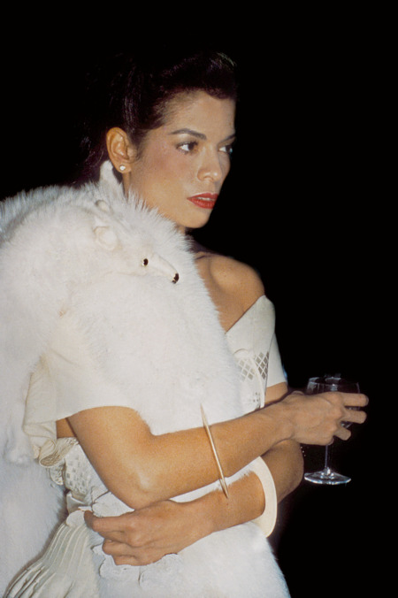 ianca Jagger, private cocktail party at Halston's townhouse, New York, 1978