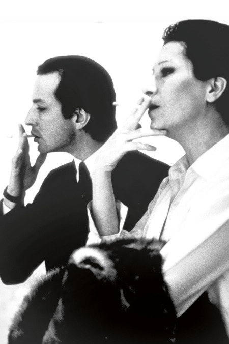 Fred Hughes and Elsa Peretti at the Marlboro Gallery, New York, 1979