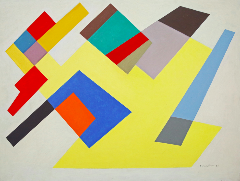 Carla Prina, Untitled, 1968, Oil on canvas