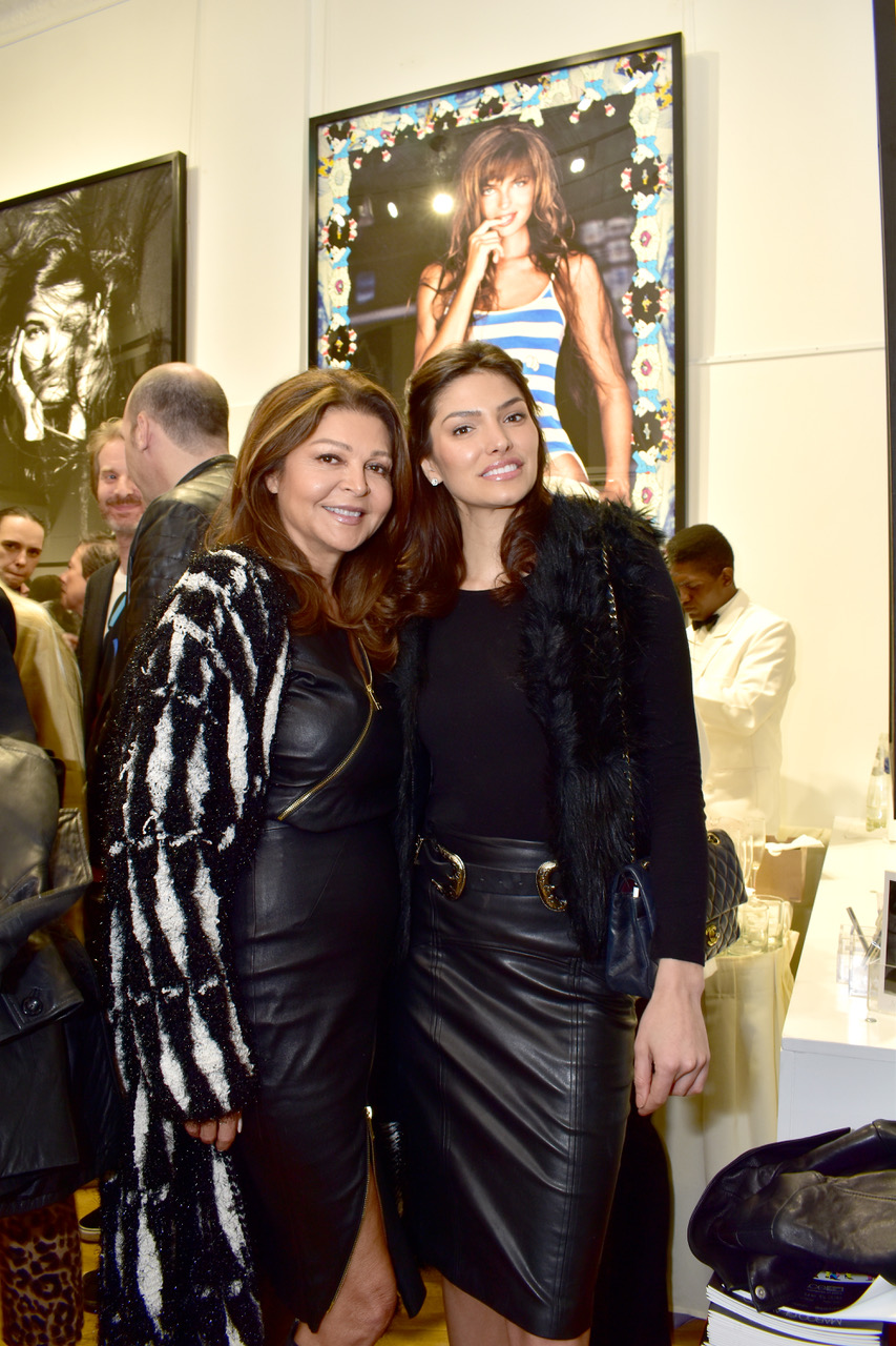 Fashionable guests at Space Gallery opening for Marco Glaviano